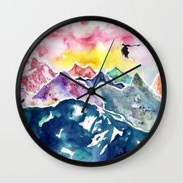 Rainbow Mountain Dragon Wall Clock