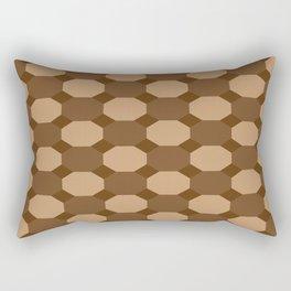 Brown Octagons Rectangular Pillow