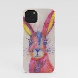 Ink Animals of Africa - Paisley Rabbit iPhone Case