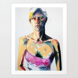Portrait of Eileen Grogan Art Print