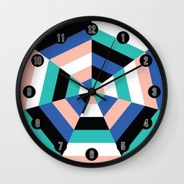 Heptagon Quilt 3 Wall Clock