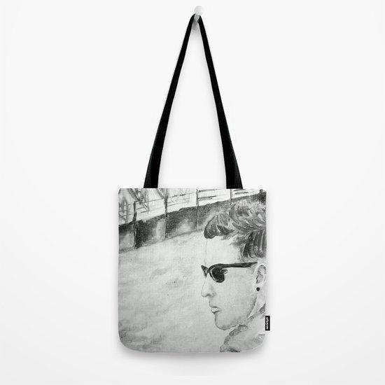 B/W I am not famous Tote Bag