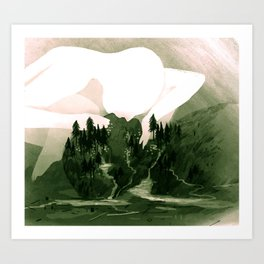 The Great Lakes Basin Art Print