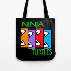 Black Flagged Turtles in a Half Shell Tote Bag