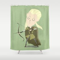 thranduil Shower Curtains featuring Legolas by Rod Perich