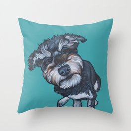Benji the Schnoodle Throw Pillow