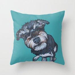 Benji the Schnoodle Throw Pillow