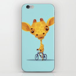 giraffe on sunday iPhone Skin