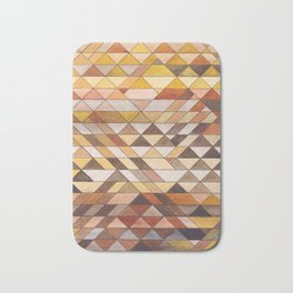 Triangle Pattern Fall Colors Bath Mat