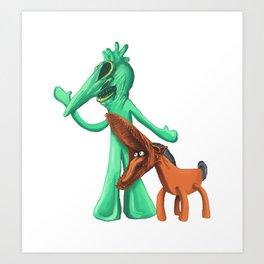 Gumbyjuice Art Print