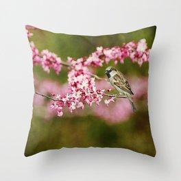 Spring Redbud Throw Pillow