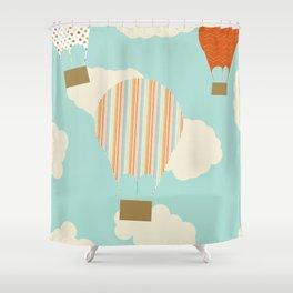 Away We Go Shower Curtain