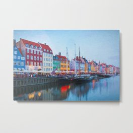 The Quay at Nyhavn, Copenhagen, Denmark Metal Print