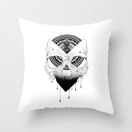 Enigmatic Skull Throw Pillow