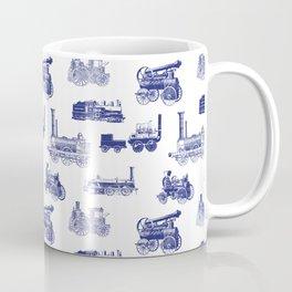 Antique Steam Engines // Dark Blue Coffee Mug
