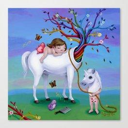 The Unicorn's New Horn Canvas Print