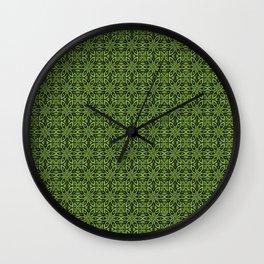 Greenery Floral Wall Clock