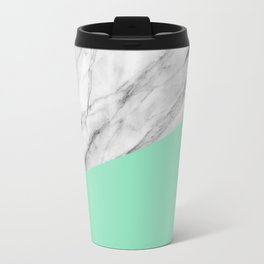 Carrara marble and sea Travel Mug