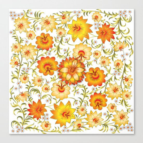 Shabby flowers #13 Canvas Print