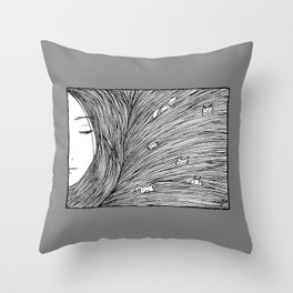 Separated grey Throw Pillow