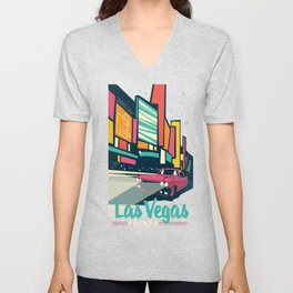 Vegas vintage mode Unisex V-Neck