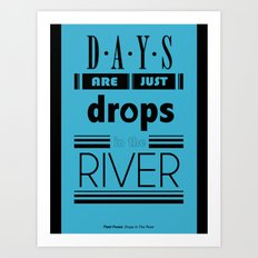 Drops In The River Art Print