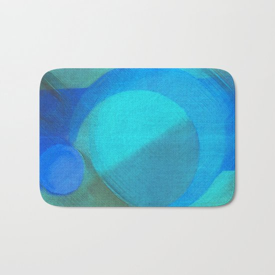 Blue Moons Bath Mat