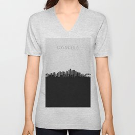City Skylines: Los Angeles (Alternative) Unisex V-Neck