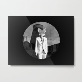 The White Fox is going to town Metal Print
