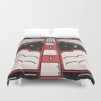 lighthouse Duvet Covers featuring Lighthouse by Andy Rogerson