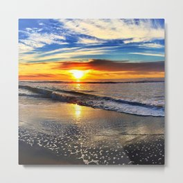 beach-sunset Metal Print
