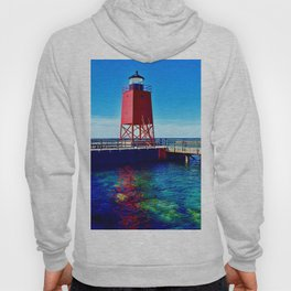 """""""Charlevoix Lighthouse Reflections"""" Hoody"""