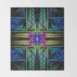 Classical Fractal Throw Blanket
