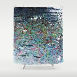 Fish in Electron Rain - Dream Series 006 Shower Curtain