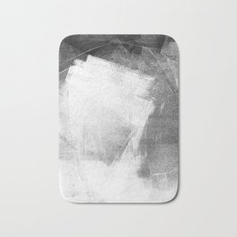 Black and White Ethereal Minimalist Abstract Painting Bath Mat