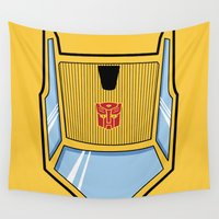 transformers Wall Tapestries featuring Transformers - Sunstreaker by CaptainLaserBeam