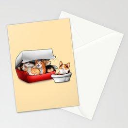 Corgi Nuggets Stationery Cards