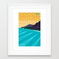 hawaii Framed Art Prints featuring Hawaii by AtomicChild