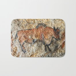 Cave painting in prehistoric style Bath Mat