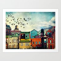 birds Art Prints featuring A Grand Avenue by Tim Jarosz