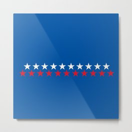 Star Light Red White & Blue Metal Print