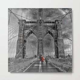 Bridge kid Metal Print