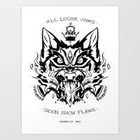 LOOSE JAWS Art Print