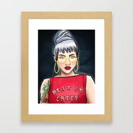 BEAT IT, CREEP Framed Art Print