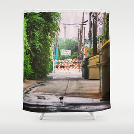 Road Closed Shower Curtain