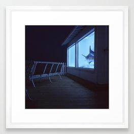 boardwalk, Ocean City, Maryland Framed Art Print