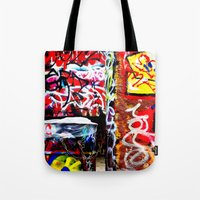 grafitti Tote Bags featuring Grafitti by Emily Dolenz Photography