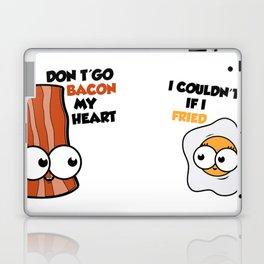 Couples love cute eggs bacon Laptop & iPad Skin