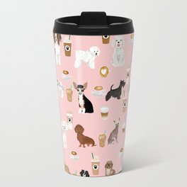 Small Dog Breeds with coffee latte frappe chihuahua bichon spaniel dachshund Travel Mug
