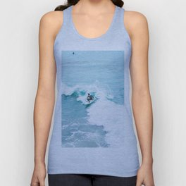 Wave Surfer Turquoise Unisex Tank Top